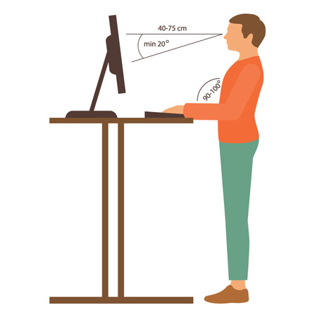 If you use a standing desk to work, use these tips to ensure good ergonomics.